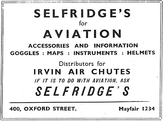 Selfridges Aviation Department