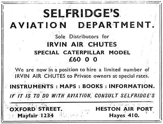 Selfridges Aviation Department