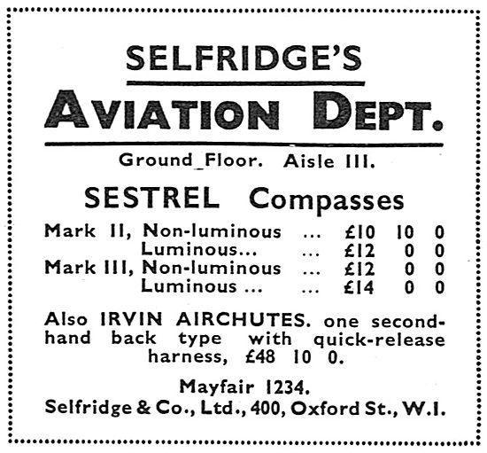 Selfridges Aviation Department - Flying Accessories: Ground Floor