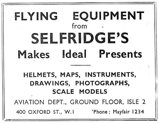 Selfridges Aviation Department - Aviators Maps & Charts