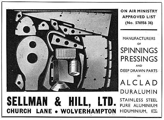 Sellman & Hill - Sheet Metal Workers. Spinnings & Pressings