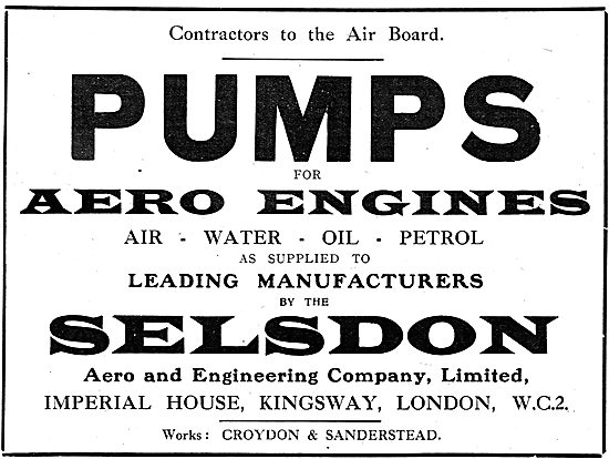 Selsdon Engineering: Manufacturers Of Pumps For Aero Engines