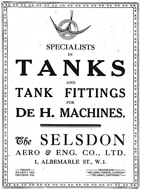 Selsdon Engineering: Manufacturers Of  Aircraft Components