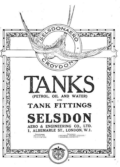 Selsdon Engineering Aircraft Petrol Tanks 1918
