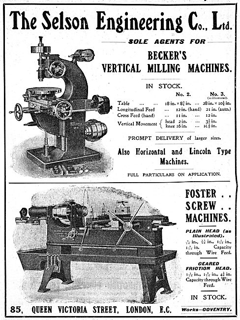Selson Engineering - Engineering Machinery & Machine Tools