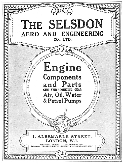 Selson Engineering - Engine Components 1918