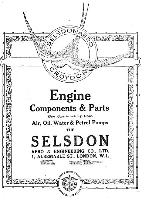 Selson Engineering Croydon  - Aero Engine Components & Parts