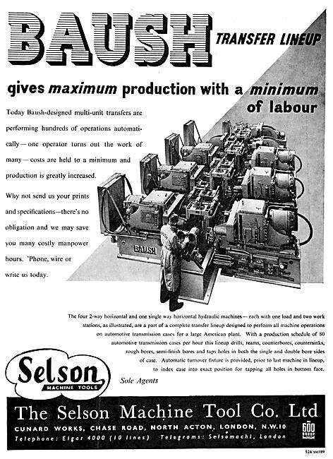 Selson Machine Tools BAUSH Multi Unit Transfers