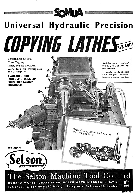 Selson Machine Tools SOMUA Copying Lathes