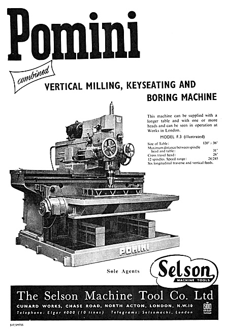 Selson Machine Tools Pomini Vertical Milling & Boring Machine