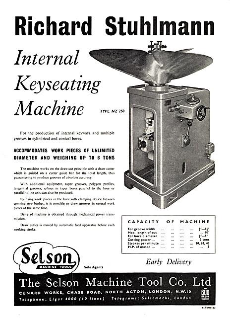 Selson Machine Tools Richard Stuhlmann Keyseating Machine
