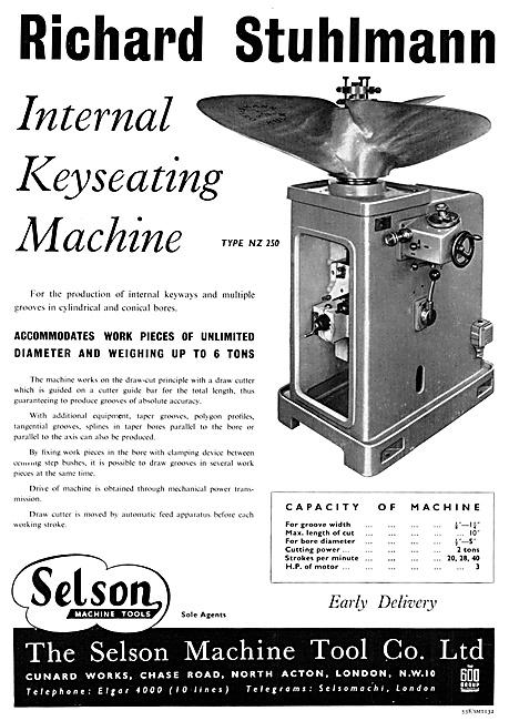 Selson Engineering Machinery & Machine Tools. Richard Stuhlmann