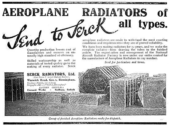Serck Aeroplane Radiators