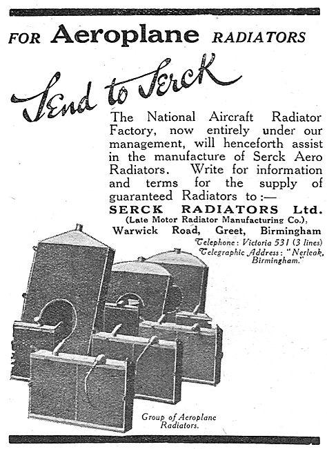 Serck Radiators For Aeroplanes