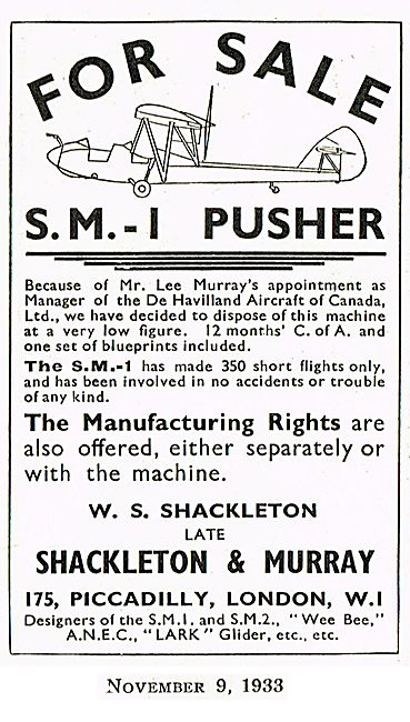 Shackleton & Murray SM1 Pusher