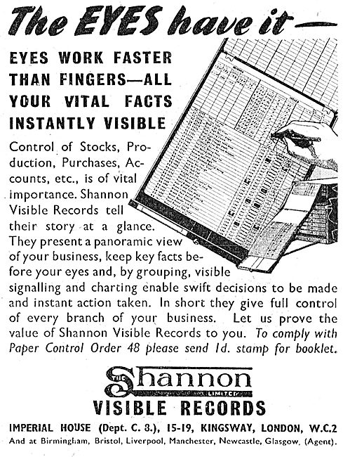 Shannon Visible Records Factory Fling Systems