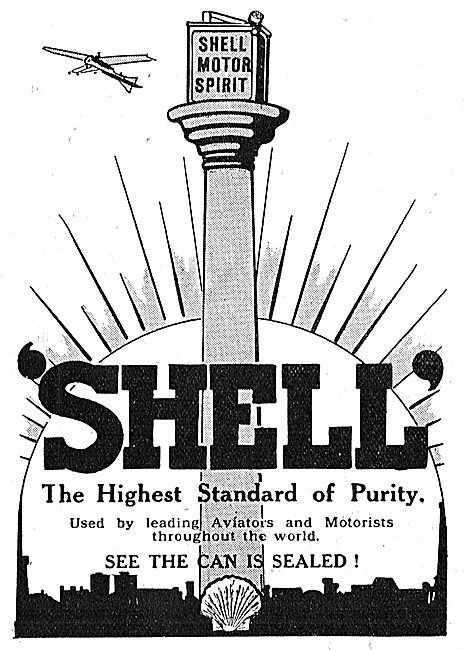 Shell Aviation Spirit. The Highest Brand Of Purity.