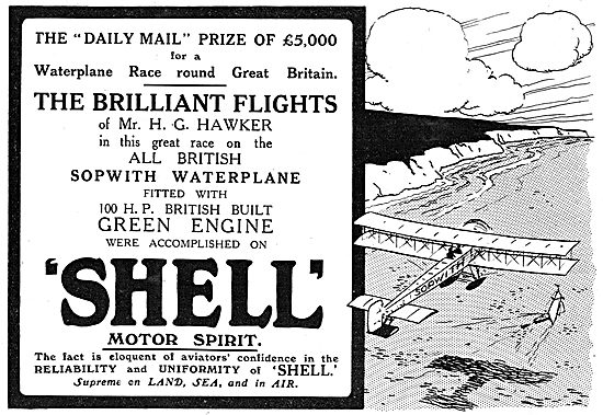 H.GHawker Chose Shell For Waterplane Race Round Britain