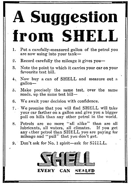 A Suggestion From Shell