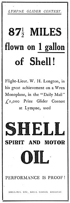 Longton Flies 87.5 Miles On One Gallon Of Shell At Lympne.