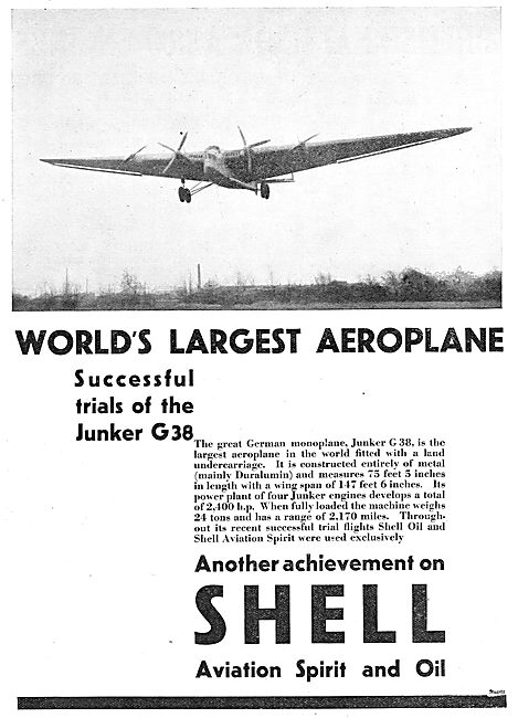 Junkers G38 - The World's Largest Aeroplane Flies Using Shell