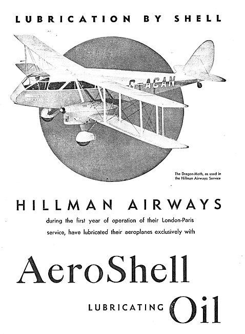 Hillman Airways Prefer Aero-Shell Lubricating Oil