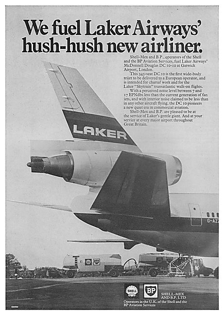 Shell Mex & BP: We Fuel Laker Airways Hush-Hush New Airliner.