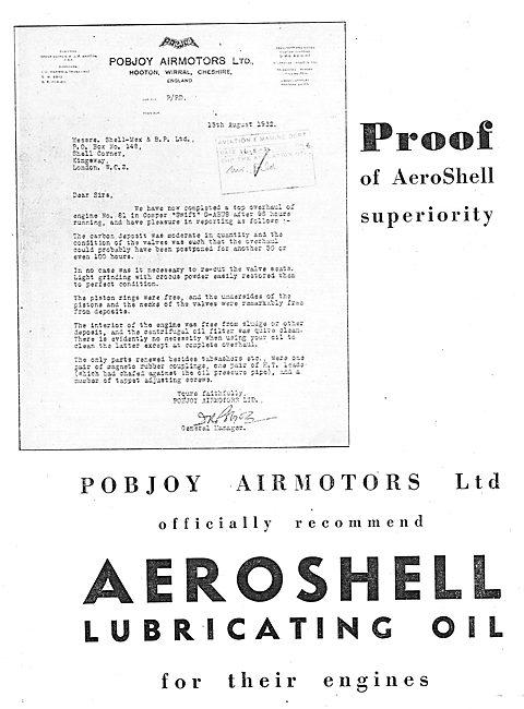 Pobjoy Airmotors Officially Recommend AeroShell