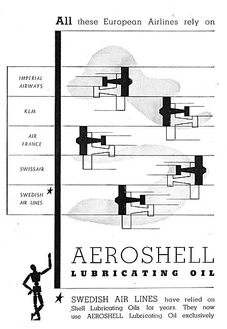 Aeroshell : Imperial Airways : KLM : Air France : Swissair