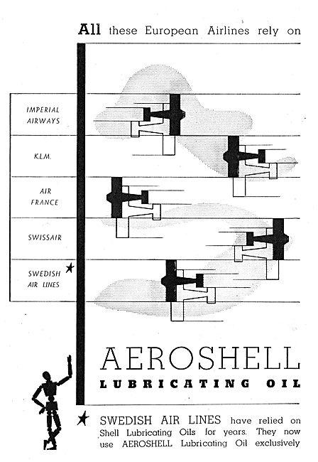Aeroshell : Imperial Airways : KLM : Air France : Swissair