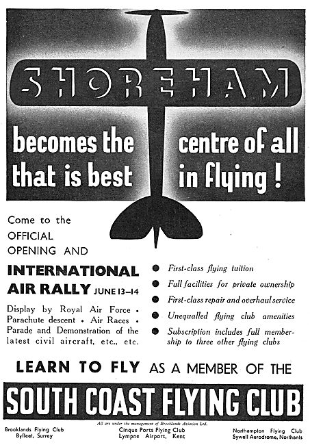 South Coast Flying Club Shoreham