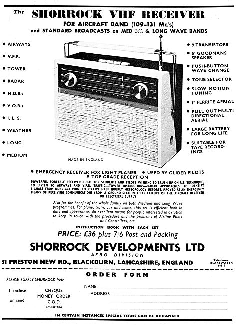 Shorrock Developments - VHF Air Band Radio Receivers