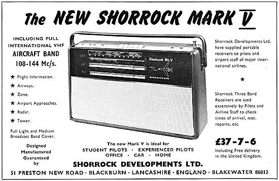 Shorrock Mark V  VHF Air Band Radio Receivers