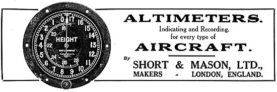 Short & Mason Aircraft Instruments - Altimeters