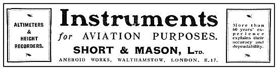 Short & Mason Instruments