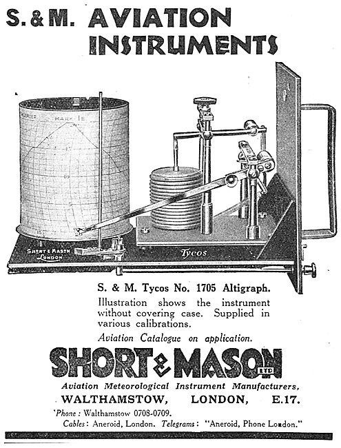 Short and Mason Tycos No 1705 Altigraph