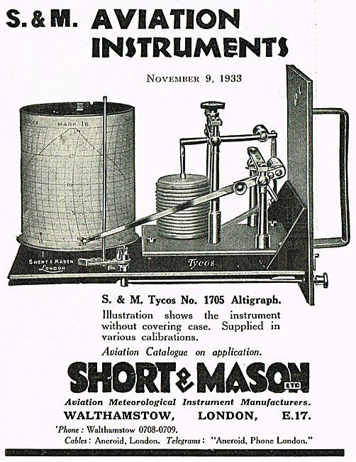 Short & Mason Tycos No 1706 Altigraph