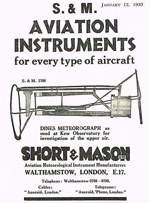 Short & Mason Dines Meteorograph