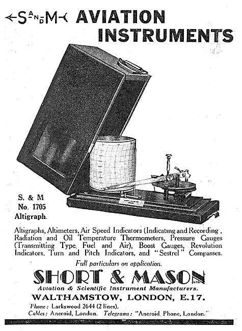 Short and Mason Aviation Instruments: S & M 1705 Altigraph