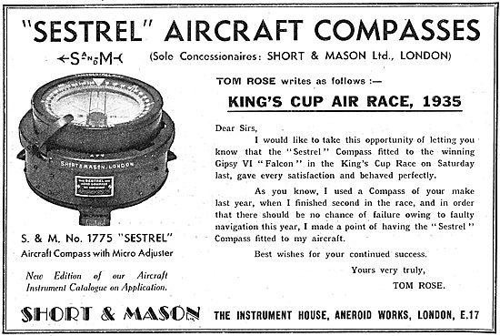 SShort and Mason Aircraft Instruments - Tom Rose - Sestrel