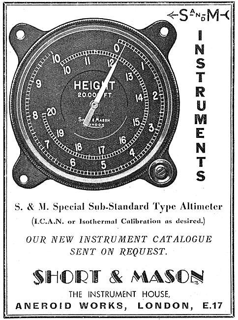Short and Mason Aircraft Instruments - ICAN Altimeter