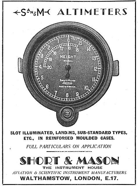 Short and Mason Aircraft Instruments - Altimeter