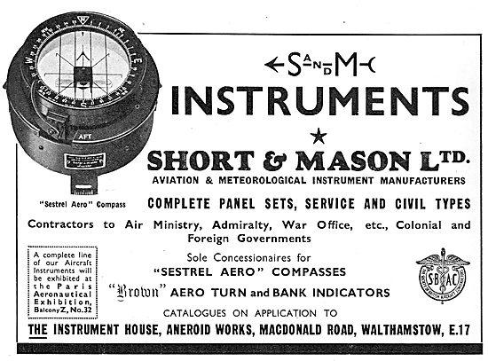 Short and Mason Sestrel Aircraft Compasses