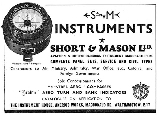 Short & Mason Aircraft Instruments - Compass
