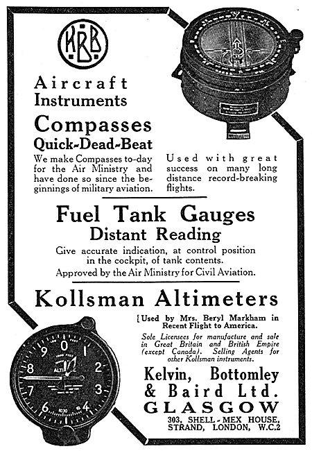 Short & Mason Aircraft Instruments - Kollsman Altimeter