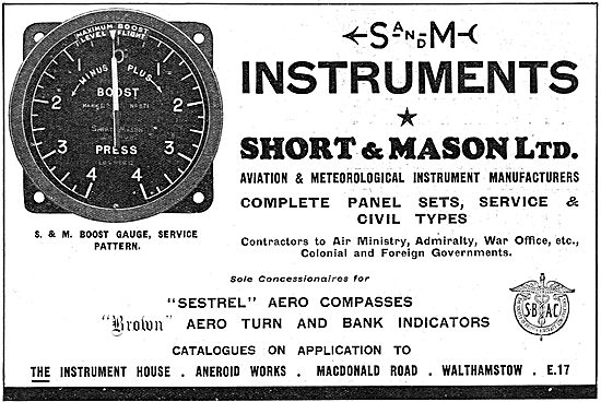 Short & Mason Aircraft Instruments - Brown Aero Turn & Bank