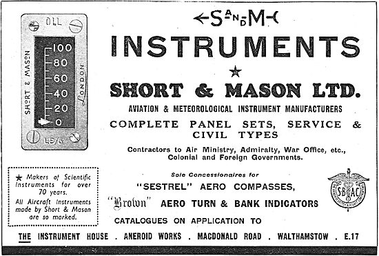 Short & Mason Aircraft Instruments