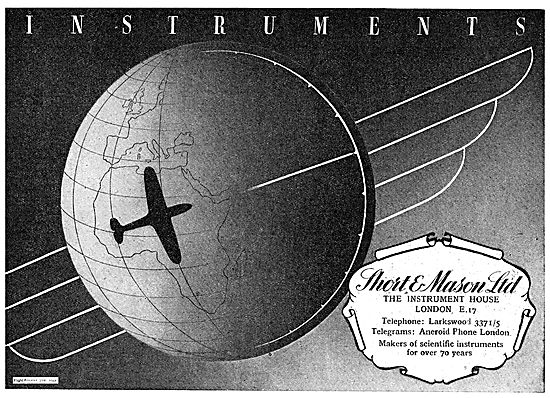 Short and Mason Instruments For Aircraft