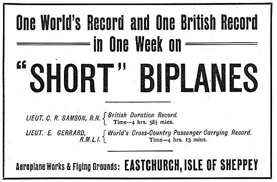 Short Biplane - Lt Samson Lt Gerrard 1911