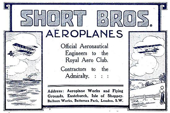 Short Brothers Aeroplanes: Works & Flying Grounds Isle Of Sheppey